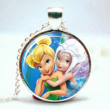 Periwinkle and Tinkerbell princess Necklace best friends jewelry