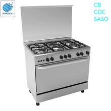 Kitchen range with gas oven 5 gas burner free standing gas cooker with oven