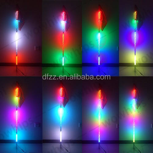 4 Feet Quick Release Offroad Jeep Car SXS LED Light Whip Flag 6 Color Available