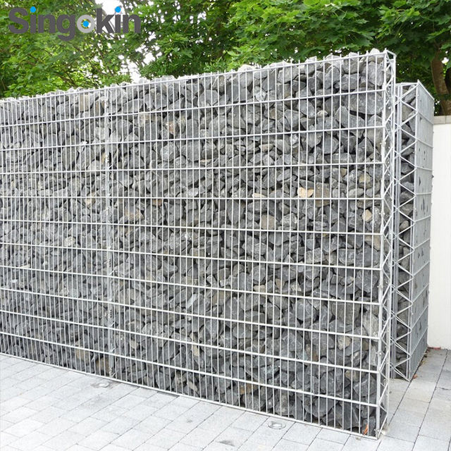 Stone cage mesh Burn basket factory price gabion fence price gabion retaining walls
