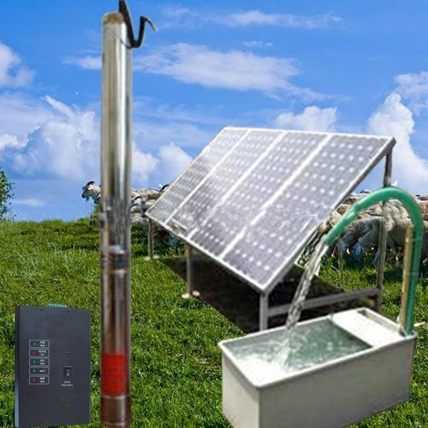 High efficiency water pump deep well submersible pump 2 inch solar pump