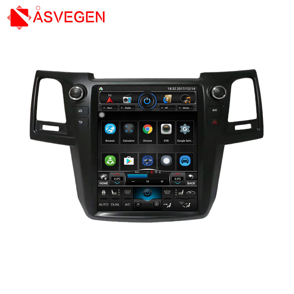 Car Android GPS Navigation DVD Player With Video Audio Bluetooth Radio For Toyota Old Fortuner 2004-2016 Hilux