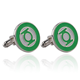 wholesale High Quality Copper Cuff Links Film Role Green Arrow Cufflinks