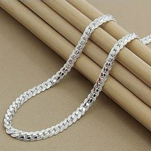 statement Jewelry 5MM Full Sideways Silver or gold  Necklace for women and men punk Chain Necklace