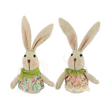 Wholesale Fabric Party Decorations 3D Soft Toy Jute Doll Easter Bunny
