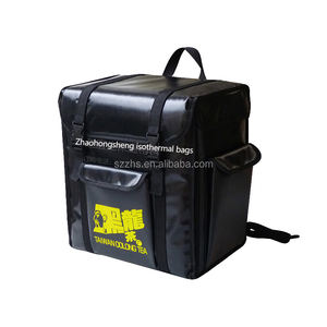 Custom made hot food delivery backpack to be thermal retardation or keep cans drinking cooler