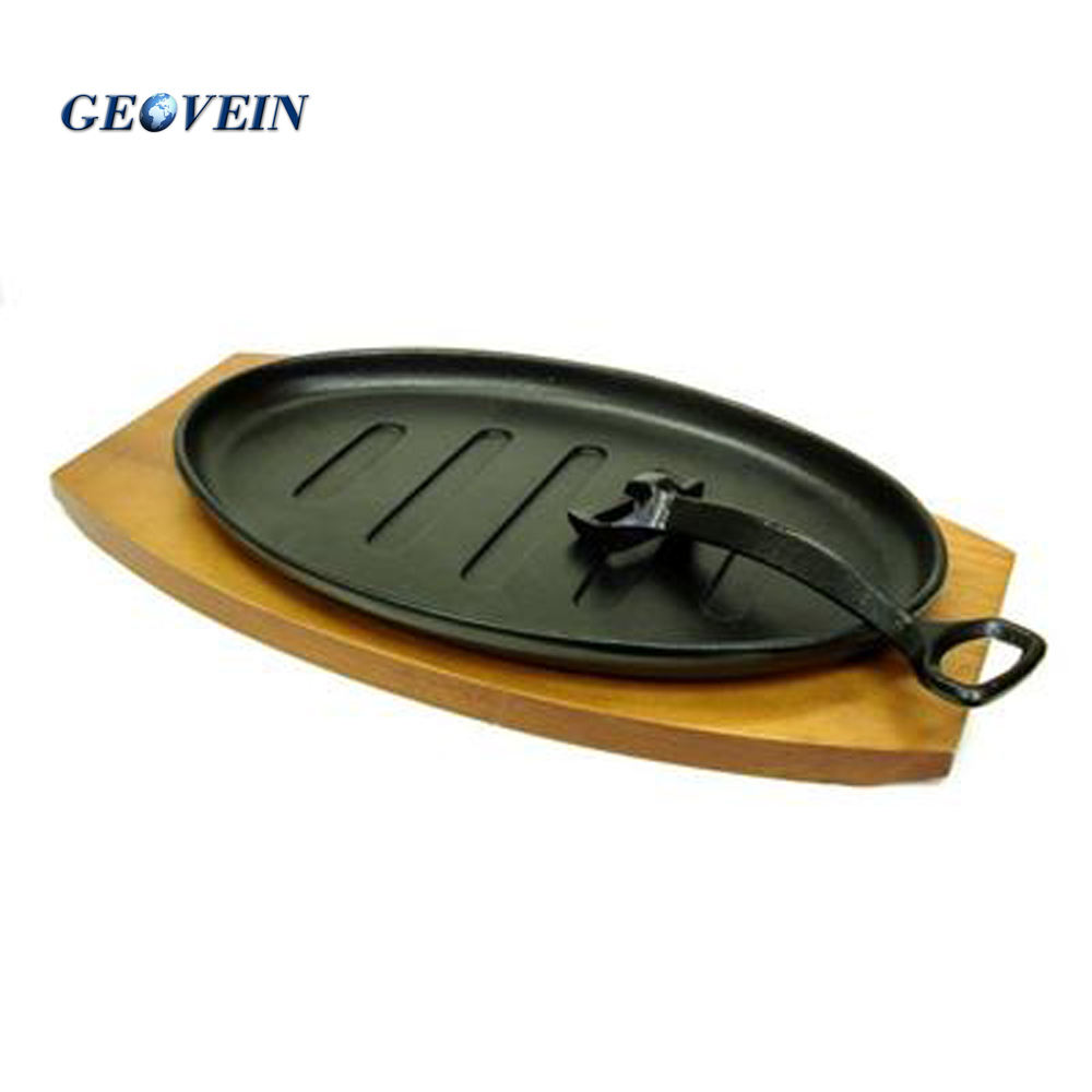 Hot Selling Non-stick Fajita Sizzler Cast Iron Sizzling Plate