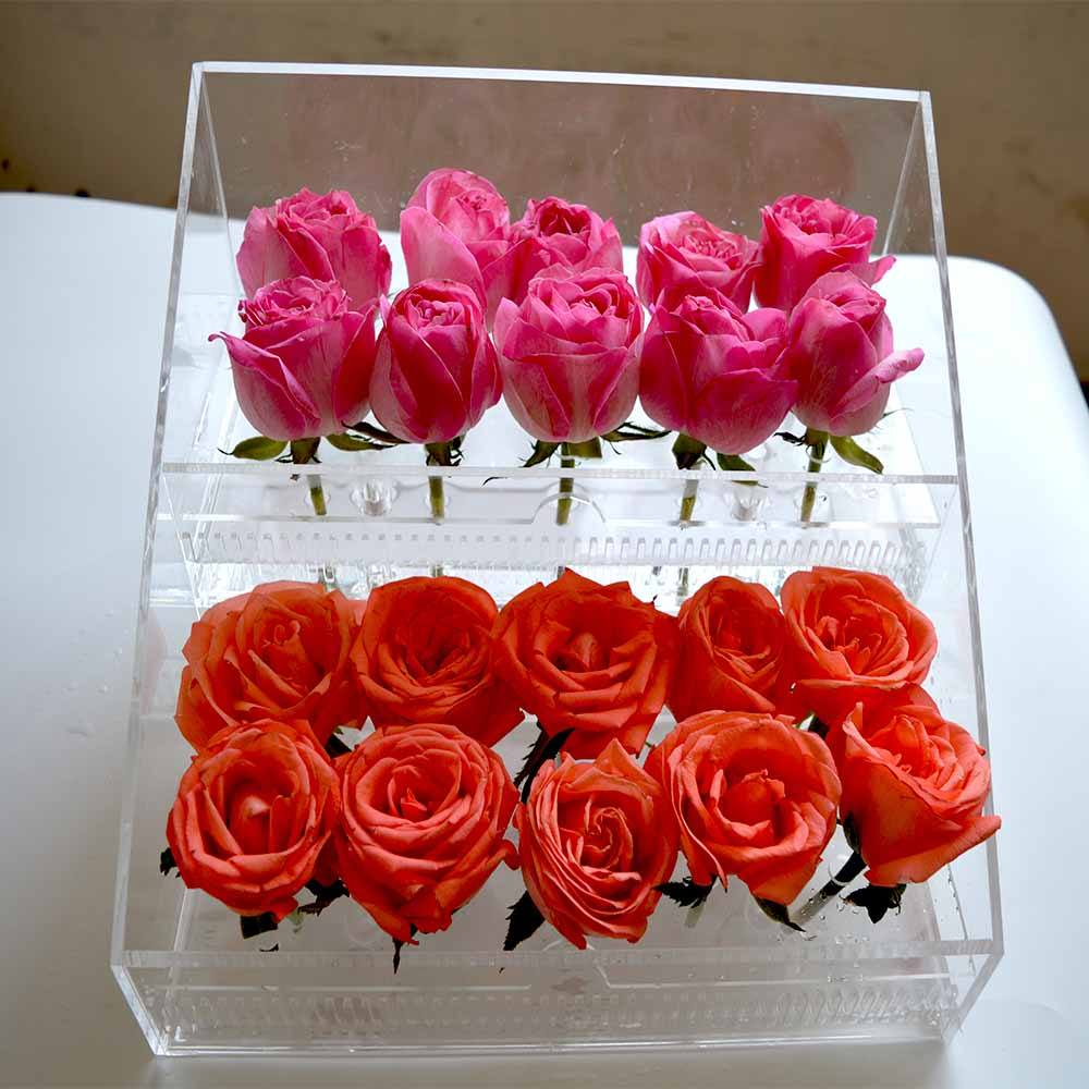 high quality acrylic box for preserved rose, acrylic rose flower box