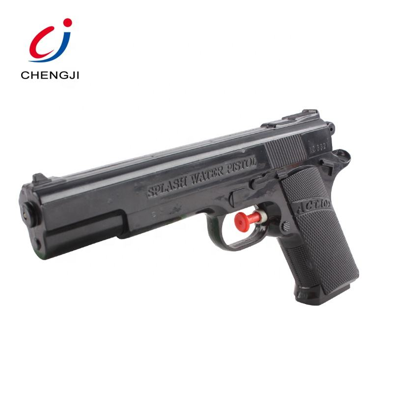 Summer toy pistol shaped black plastic water gun