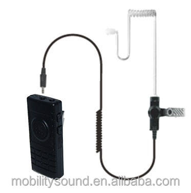 Dual Link Bluetooth Speaker Microphone for 2-way radio walkie talkie and cell phone