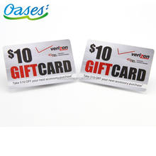 Offset Printing Plastic Coupon cash rewards gift Card manufacturer