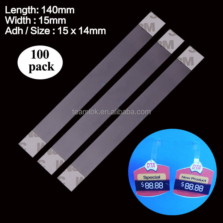 200 Clear Self Adhesive Shelf Wobbler Arms Wobblers Point of Sale Display 140mm