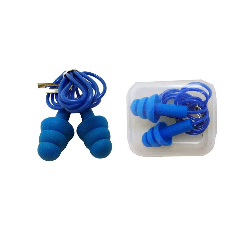Swimming selective hearing durable silicone earplugs noise cancelling reusable sleeping earplugs
