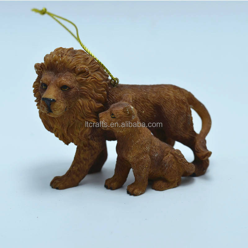 Custom made opknoping resin decoratieve lion beeldje voor home decor