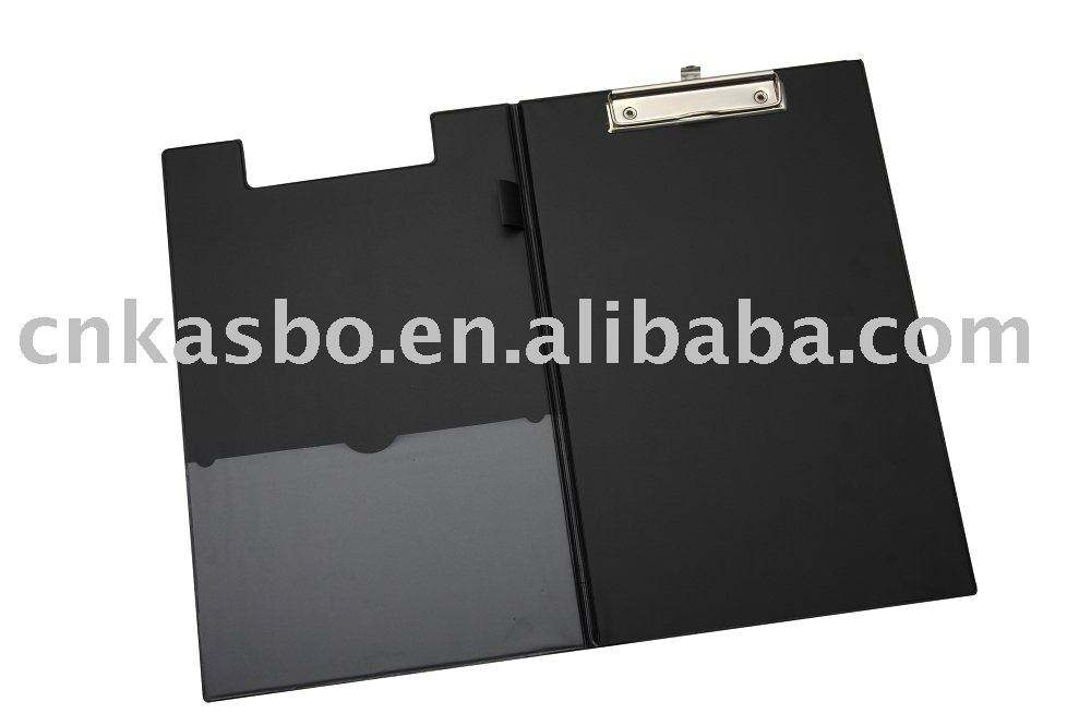 double pvc clipboard with pocket