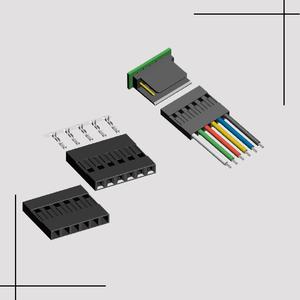 2,54mm molex equivalente ce adaptador hembra vivienda 40 p 40pin 40 pin pcb conector JST TJC presión barra de soldadura conector