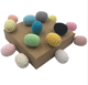 Wholesale Eco-friendly Handmade Cotton Thread Crochet Ball Beads for Baby Teether Toys