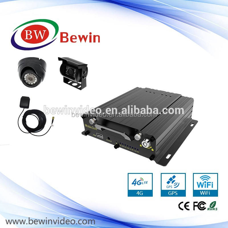 OEM 2TB HDD Mobile DVR with 3G/4G WIFI GPS G-sensor for Vehicle 4CH AHD 960P/720P Realtime MDVR