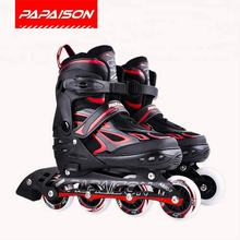 Kids adjustable in line four wheel inline roller skate shoes