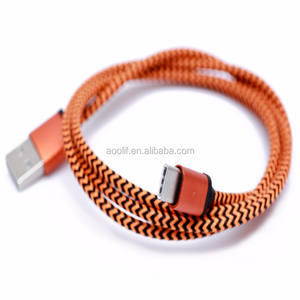 2017 Wholesale nylon braided cell phone usb data charger cable for Samsung smartphones 3ft 6ft nylon braided micro usb cable