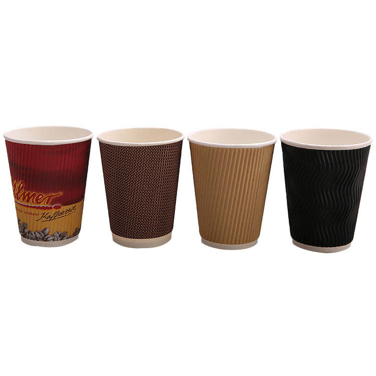 Disposable eco friendly printed nice paper coffee carton cup