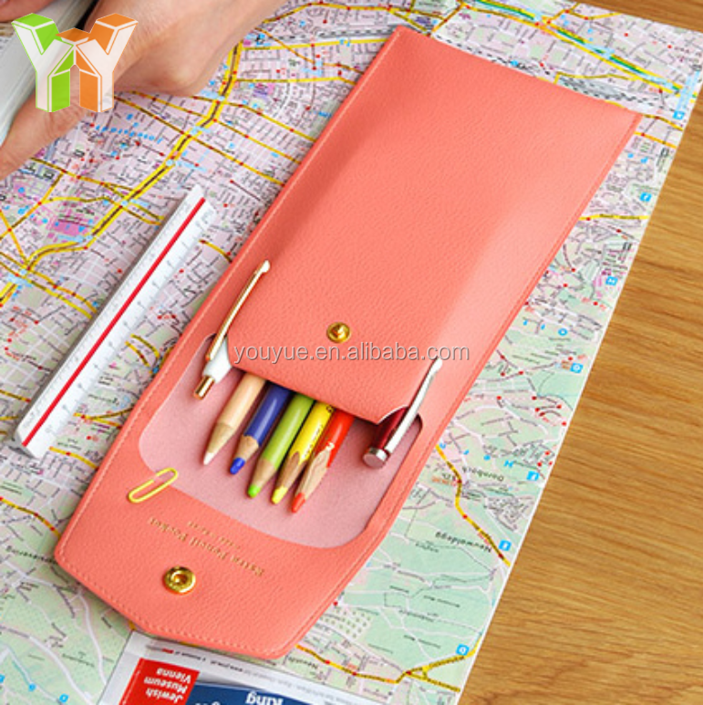 Selling as Hotcakes PU Leather Pencil Case Pen Pouch for School