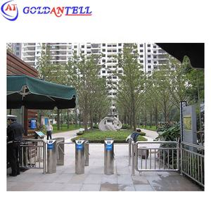 CE certificate stainless steel electronic automatic bridge type bi-directional access control tripod turnstile for bus