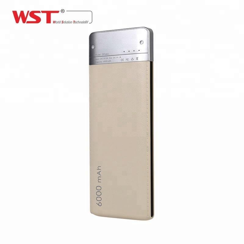 Beste verkauf mobile zubehör ABS + PC textur 6000 mah ultra slim power bank billig