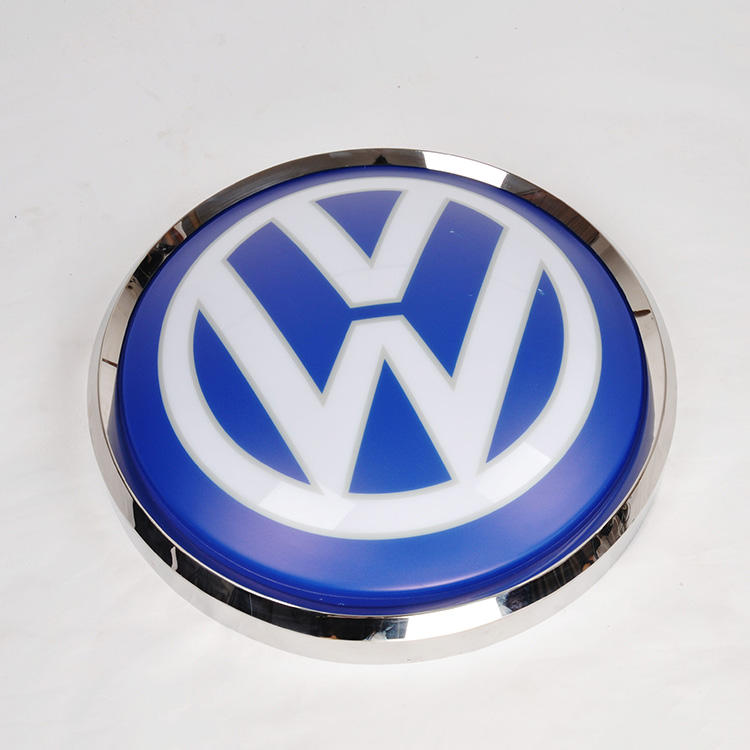 Acrylic absorbing car brands logo names led advertising car logo