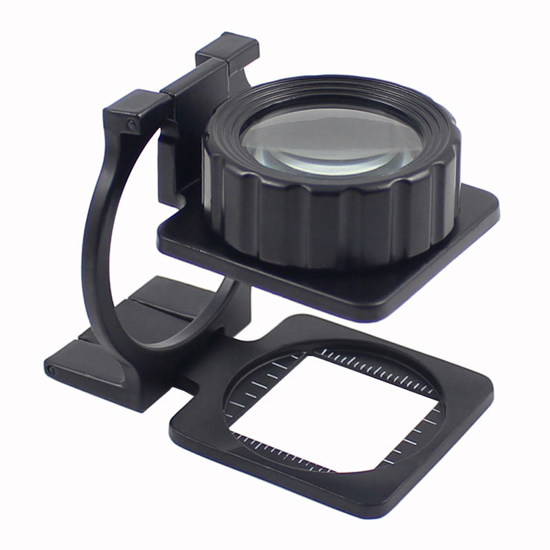 Portable Foldable15X Measure Scale Magnifying Glass