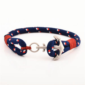 Newest Fashion Nylon Nautical Rope Women Men Anchor Bracelet