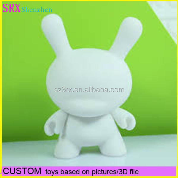 White 5 in 1 Cute 4 inches Kidrobot Munny Never Painted White Vinyl Art Toy Hot