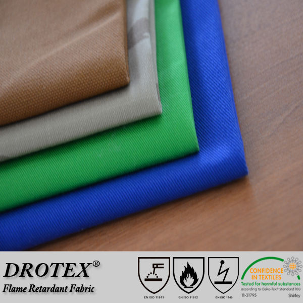 anti fire 100% cotton twill functional fireproof fabric for welding