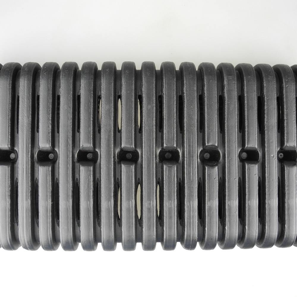 HDPE corrugated plastic drainage pipe flat pipe with holes