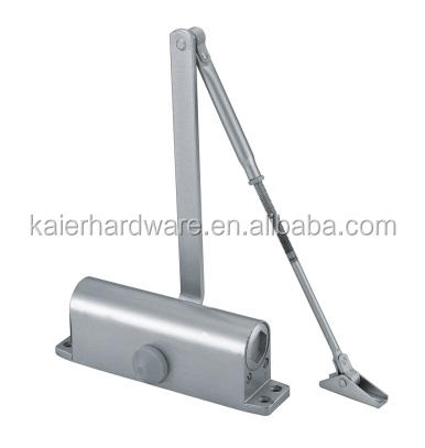 Heavy duty aluminum automatic fireproof door closer with spring loaded