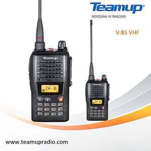 Teamup display LCD 199 canais VHF ícone walkie talkie V-85