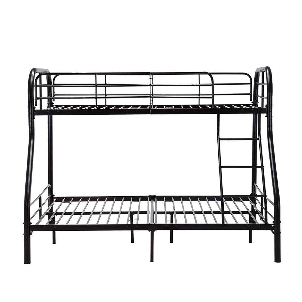 Premium Twin-Over-Full bunk Bed,black