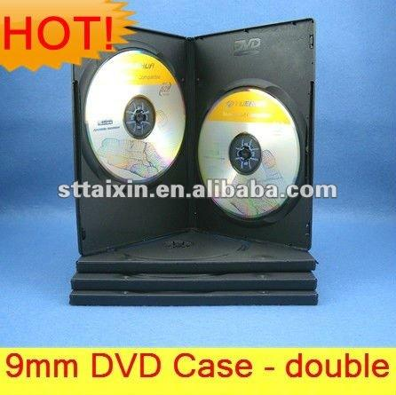 Caja de DVD de doble CD de 9MM-soporte negro