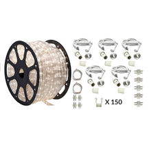 CE RoHS IP65 white LED 100m rope light for outdoor decoration