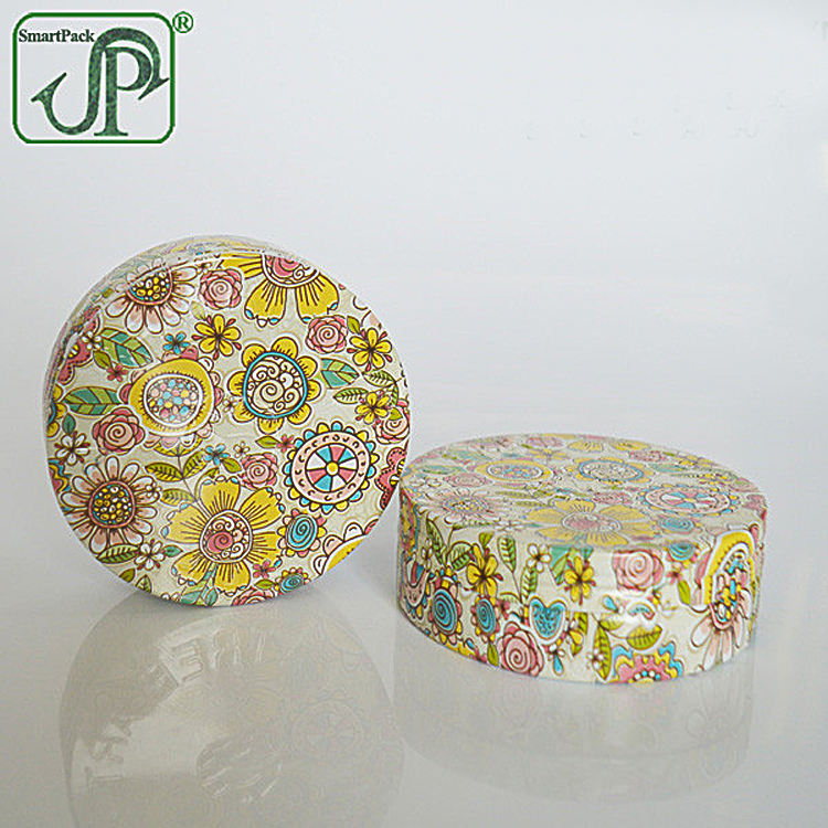 Custom printed Aluminum jars metal candy box flower tea packaging box