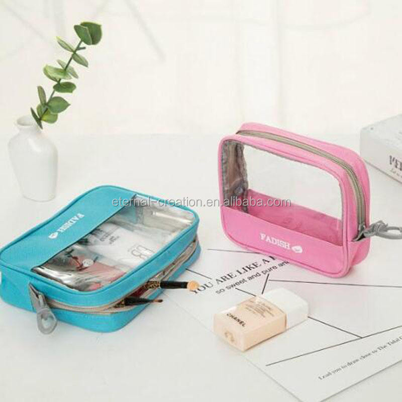 China Factory Waterproof Clear Cosmetic Bag For Travel Business