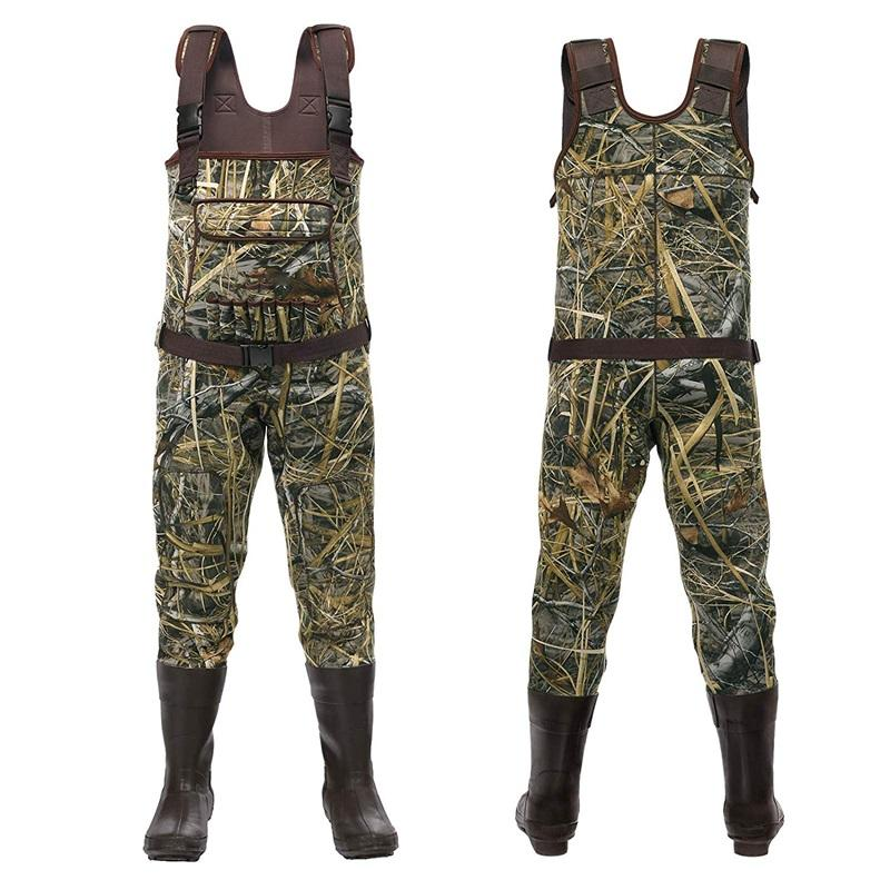 New Design Waterproof Camo Neoprene Insulated Men Chest Fly Fishing & Hunting Waders