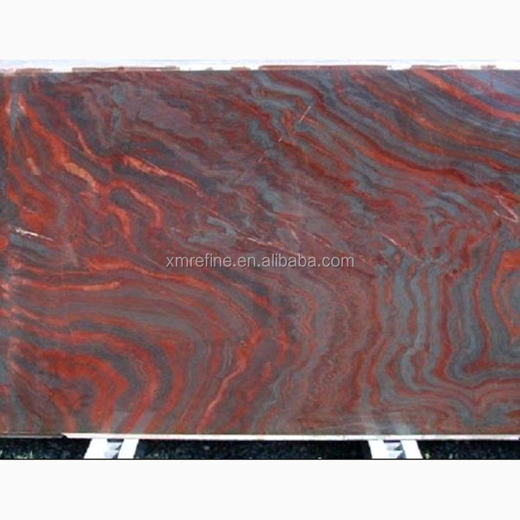 exotic Granite Tile New Brazil Iron Red Raw Granite Slab