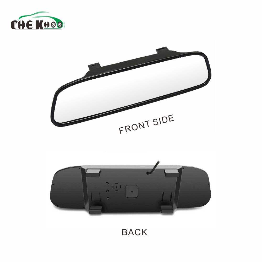 "Monitor do carro de 4.3 ""Tela Para Car Rear View Camera Reversa Cor TFT LCD Espelho retrovisor Monitor de 4.3 Polegadas HD Espelho Backview"