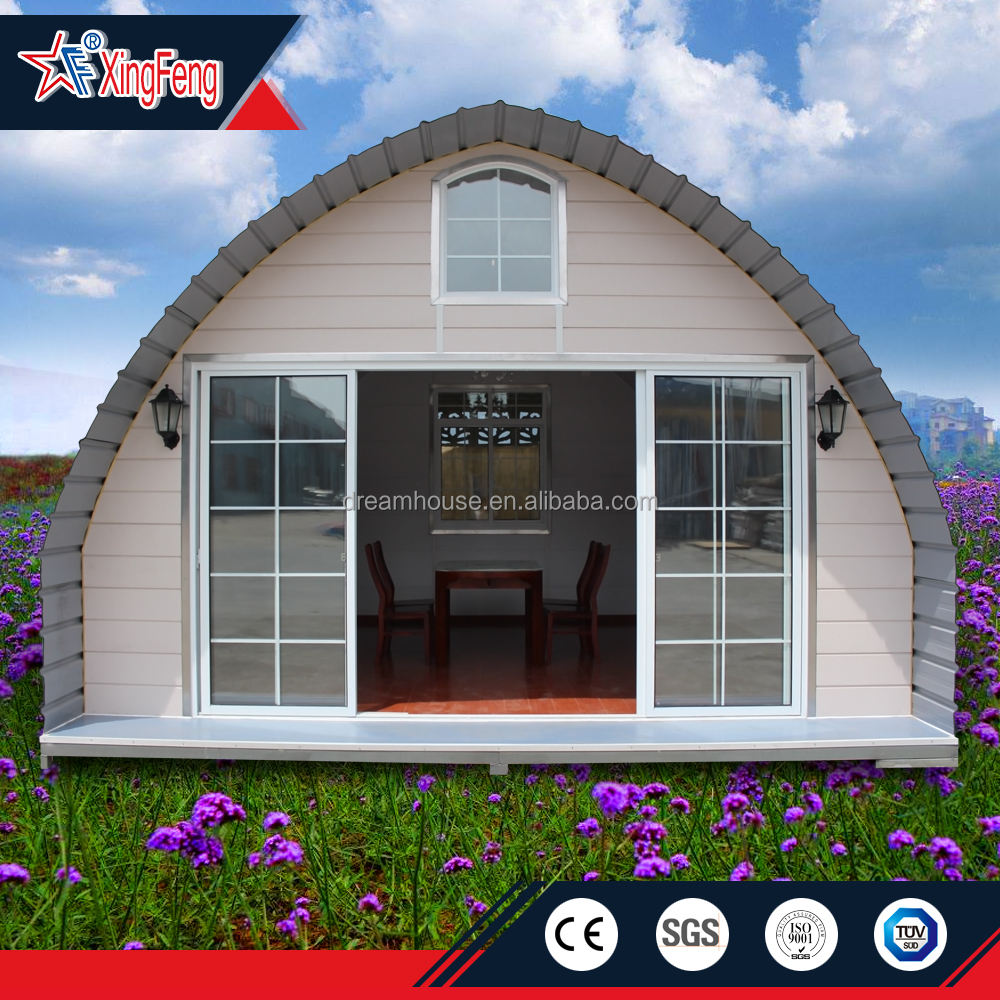 Cheap dome home/mobile tiny house/china modular arched cabin