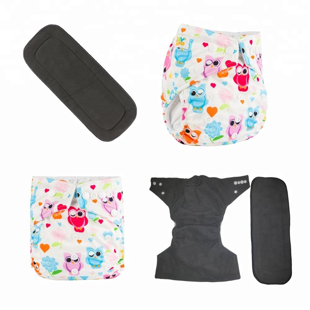 New Design Pocket Style Ecological Reusable Bamboo Charcoal Cloth Diaper
