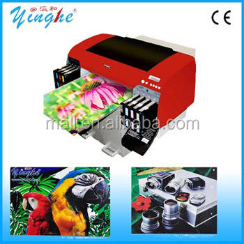 Multifunctional A2 size(420mm*800mm) uv led flatbed printer for printing on surface of glass,pen,card,phone case