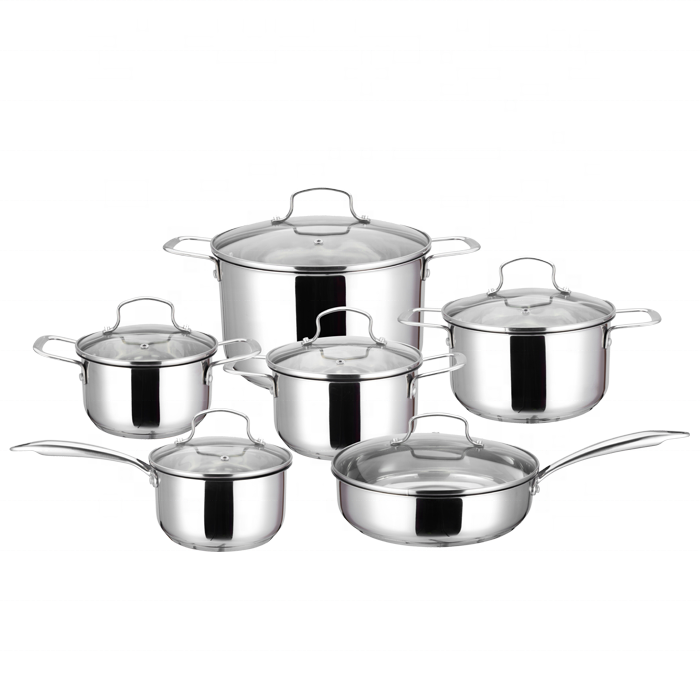 China Durable And Unbreakable And Affordable Stainless Steel Cookware Set