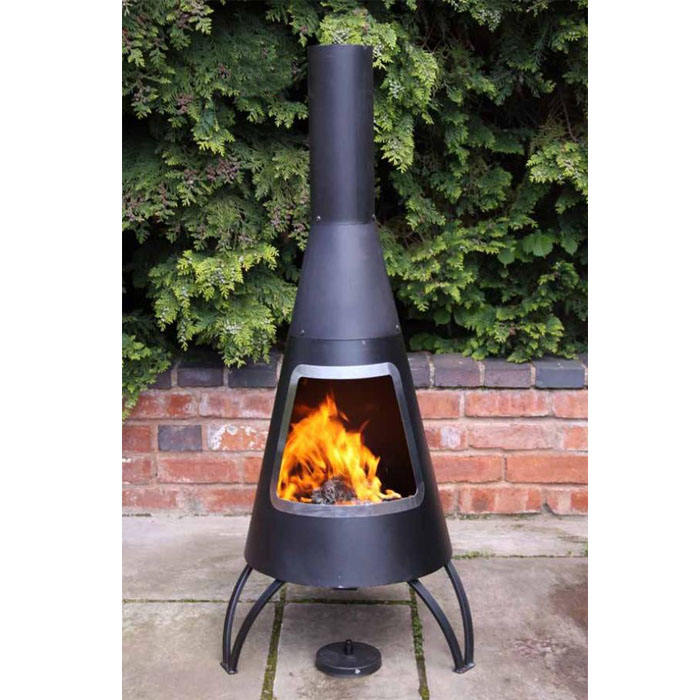 Garden Heater Large Tripod Steel Chiminea