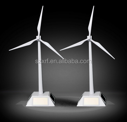 Solar Toys New arrival mini ABS plastic white color solar powered windmill